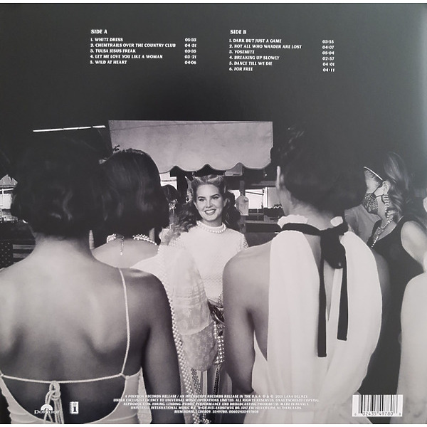Lana Del Rey - Chemtrails Over The Country Club (LP) (Back)