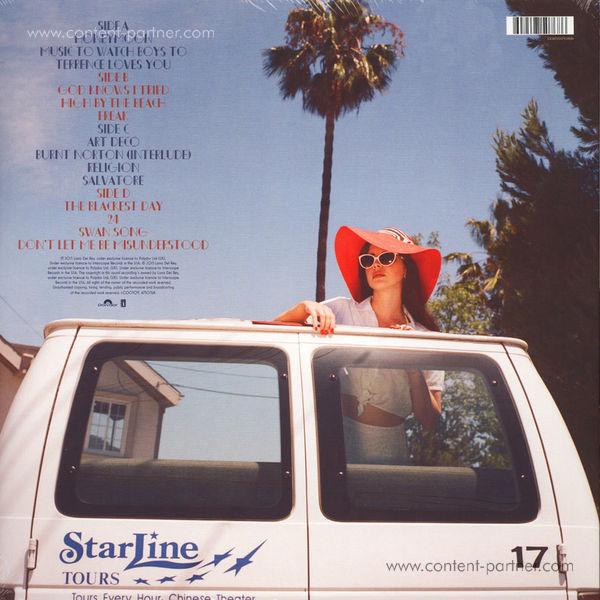 Lana Del Rey - Honeymoon (2LP +MP3) (Back)