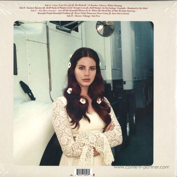 Lana Del Rey - Lust For Life (2LP +MP3) (Back)