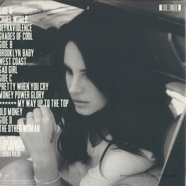 Lana Del Rey - Ultraviolence (2LP + MP3) (Back)