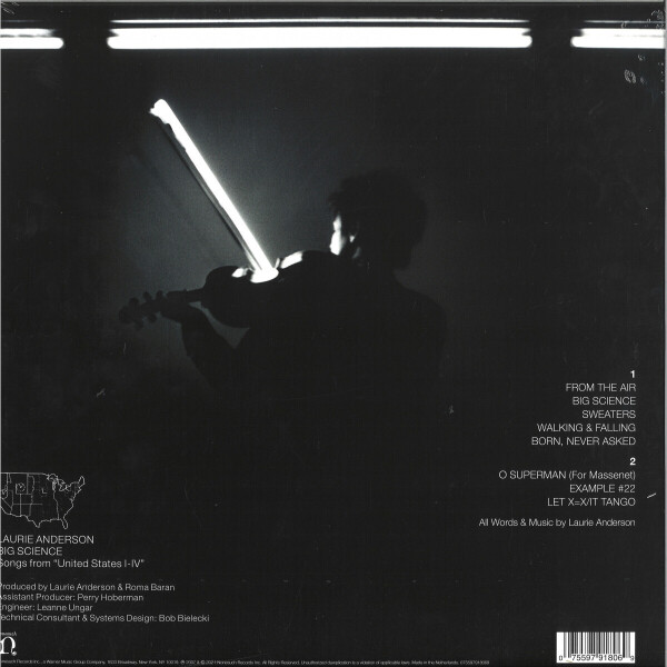 Laurie Anderson - Big Science (Back)