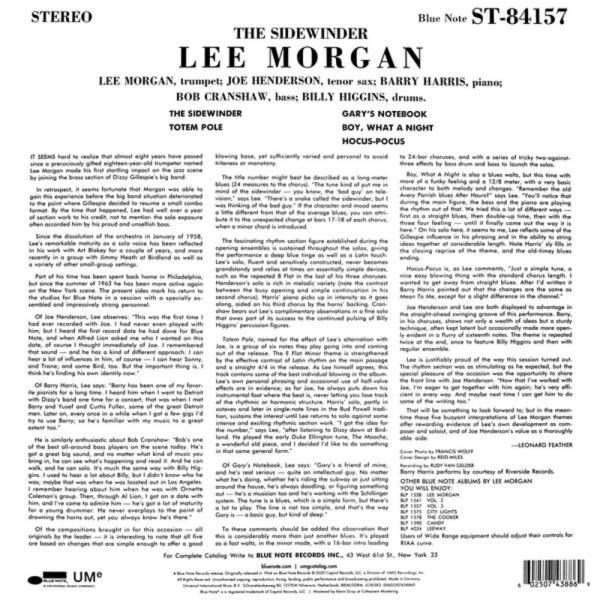 Lee Morgan - The Sidewinder (Reissue) (Back)