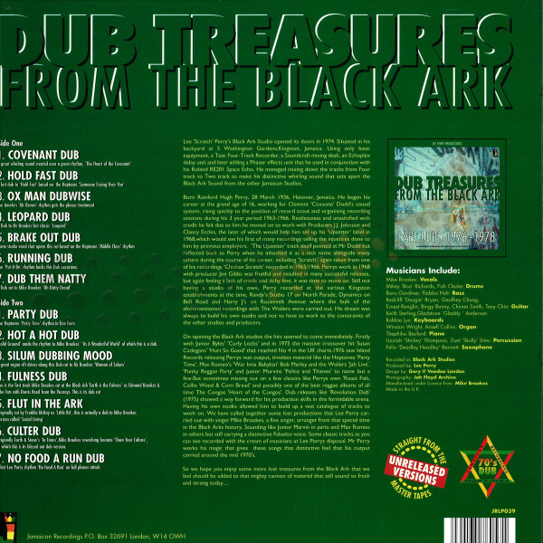 Lee Perry - Dub Treasures From The Black Ark (Back)