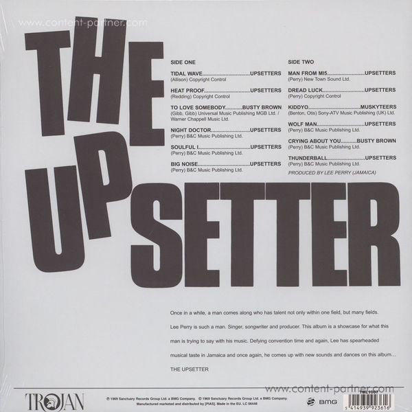 Lee Perry - The Upsetter (Back)