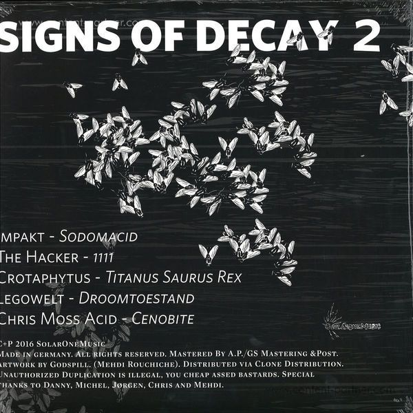 Legowelt, Impakt, The Hacker, Chris Moss Acid & Cr - Signs of Decay 2 (Back)