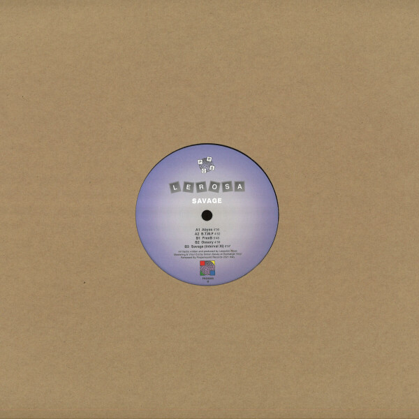 Lerosa - Savage (Repress with printed center labels) (Back)