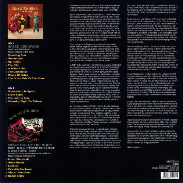Les Baxter - Space Escape-Music Out Of The Moon (LP) (Back)