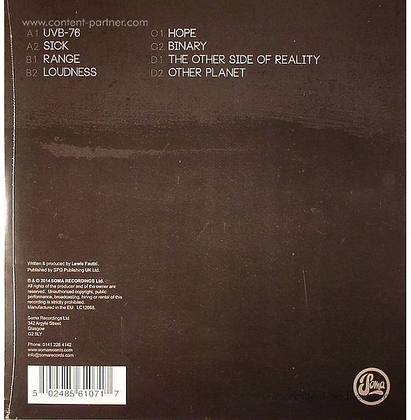 Lewis Fautzi - The Gare Album (Back)
