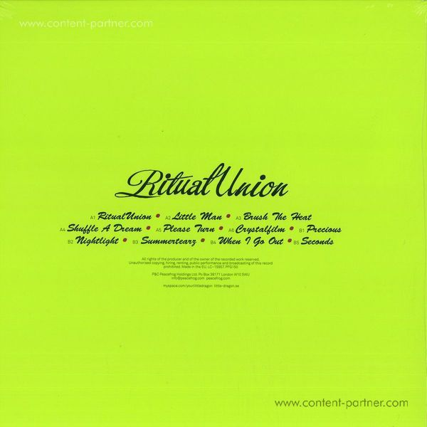 Little Dragon - Ritual Union (Back)
