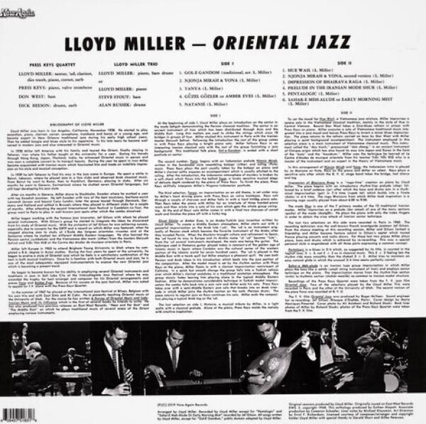 Lloyd Miller - Oriental Jazz (LP) (Back)