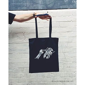 Lobster Theremin - Tote Bag 2 Dark Blue