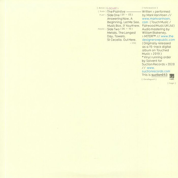 Locust - The Plaintive (Back)