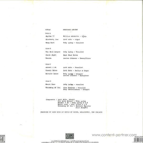 Lord Echo - Melodies (Repress) 2LP (Back)