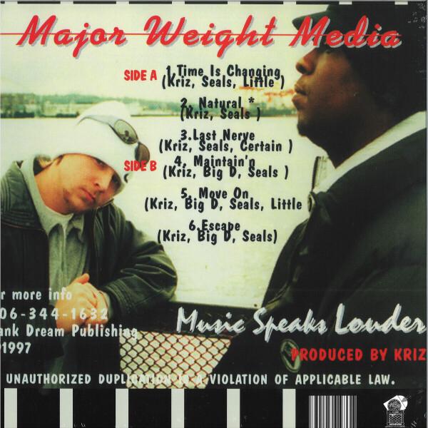 MAJOR WEIGHT MEDIA - MUSIC SPEAKS LOUDER (Back)