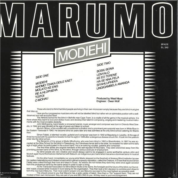 MARUMO - Modiehi (LP) (Back)