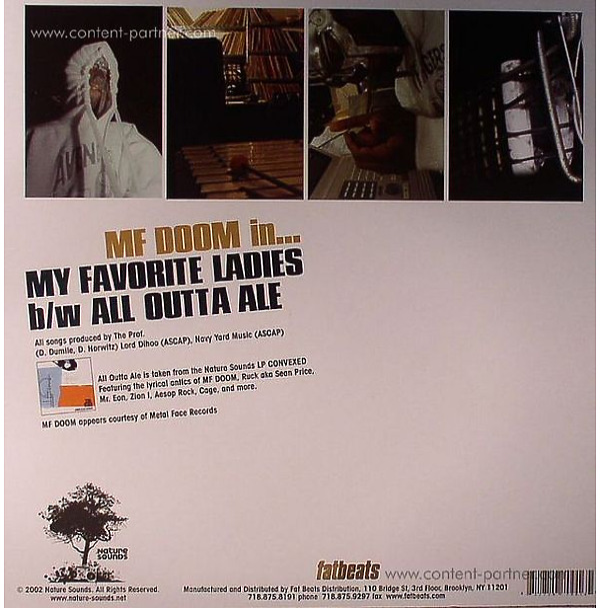 MF Doom - My Favorite Ladies (Repr. Orange Vinyl) (Back)