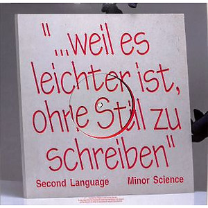 MINOR SCIENCE - SECOND LANGUAGE