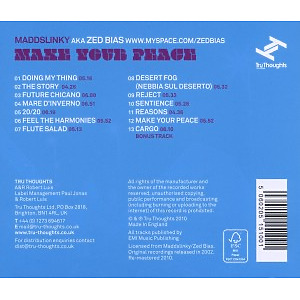 Maddslinky - Make Your Peace (Back)