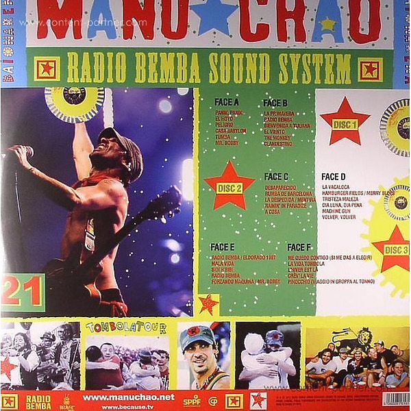 Manu Chao - Live Baionarena (3LP+CD) (Back)