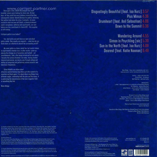 Manu Delago - Silver Kobalt (LP + MP3) (Back)