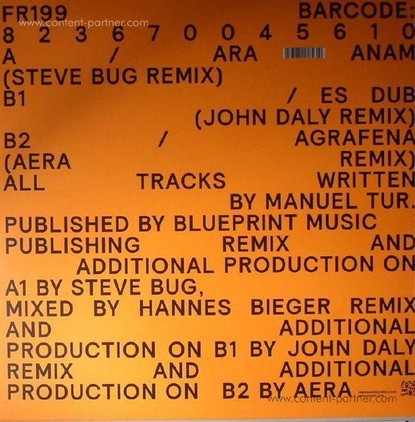 Manuel Tur - Remixed Sampler (Steve Bug, John Daly) (Back)