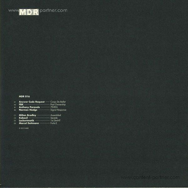 Marcel Dettmann Records Compilation - MDR016 Compilation 2x12 (Back)