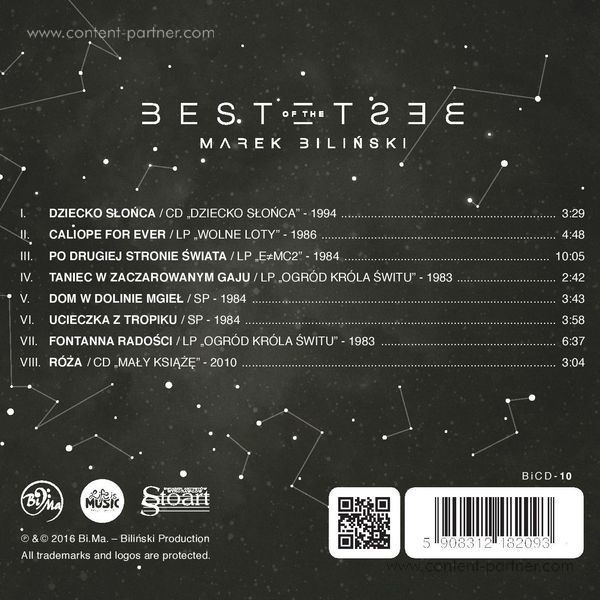 Marek Bilinski - Best of the Best (CD) (Back)