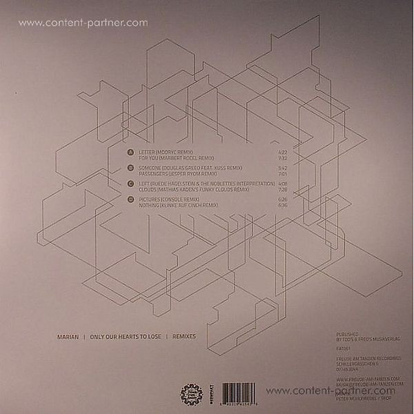 Marian - Only Our Hearts To Lose (Remixes) (Back)