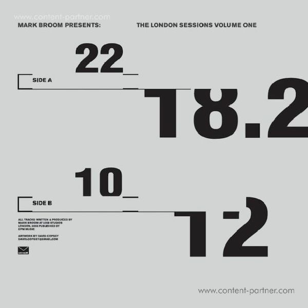 Mark Broom - The London Sessions, Vol. 1 (Back)