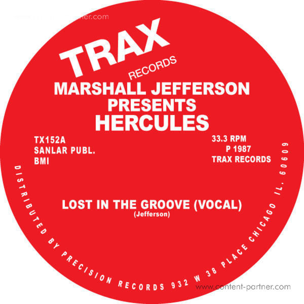 Marshall Jefferson Presents Hercules - Lost In The Groove (Back)