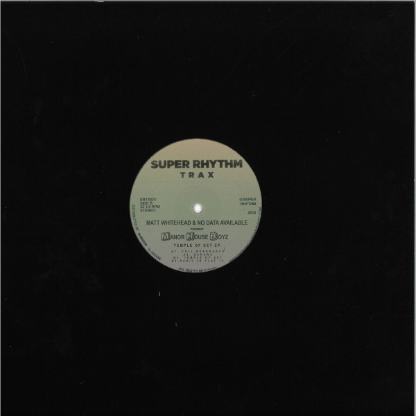 Matt Whitehead & No Data Available present Manor H - Temple Of Set EP (Back)