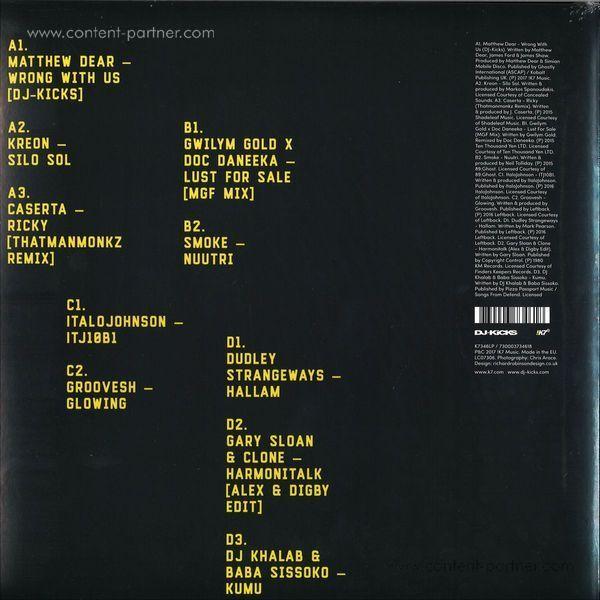 Matthew Dear - DJ Kicks (2LP+CD, Gatefold) (Back)