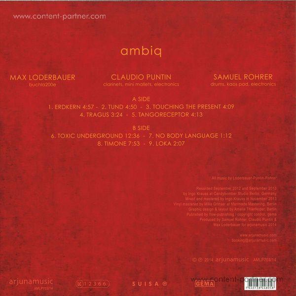 Max Loderbauer, Claudio Puntin & Samuel - Ambiq (LP) (Back)