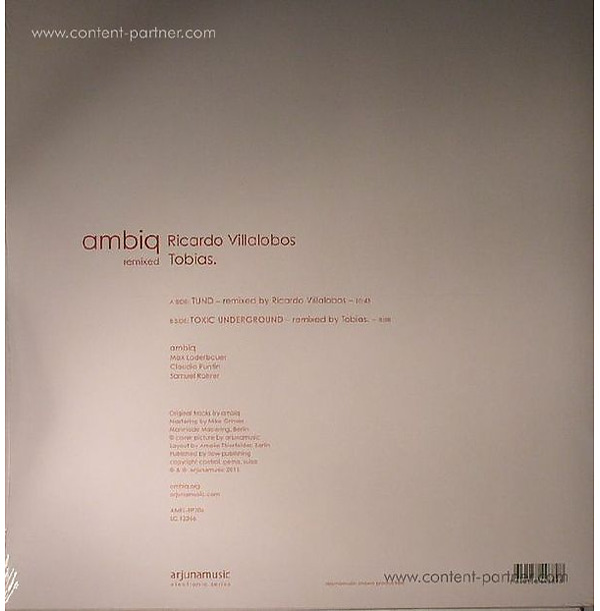 Max Loderbauer, Claudio Puntin and Sam R - Ambiq Remixed: Ricardo Villalobos&Tobias (Back)