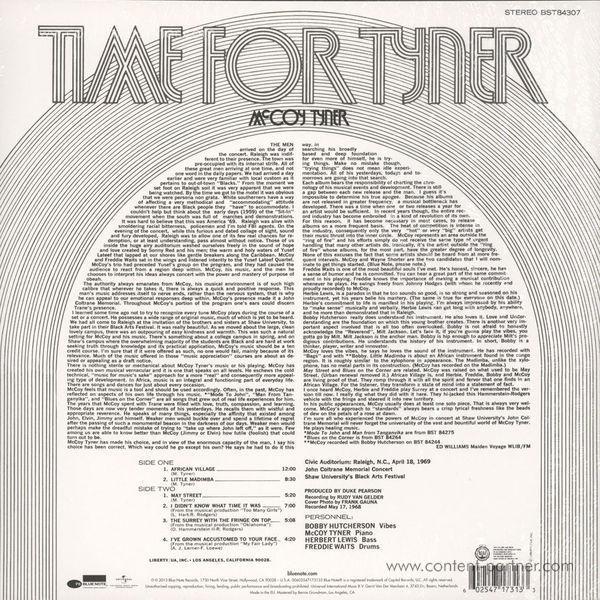 McCoy Tyner - Time for Tyner (Back)