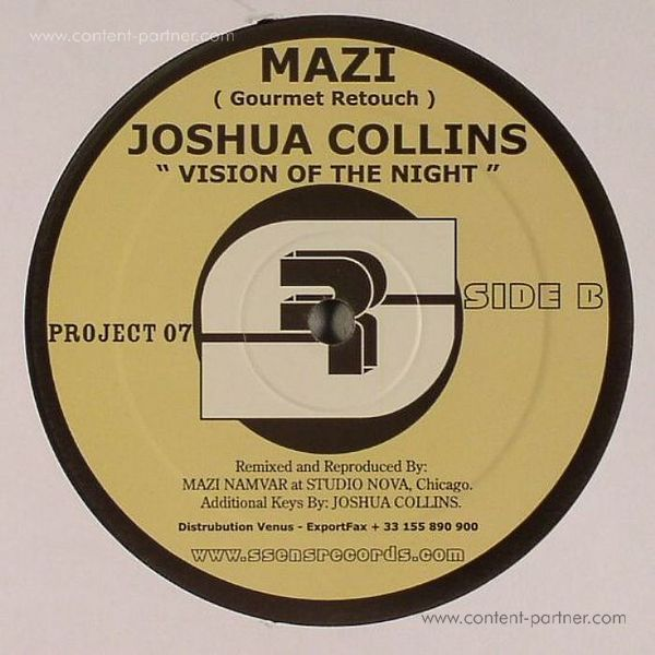 Mehdispoz & Mazi / Joshua Collins - Vision Of The Night (Back)