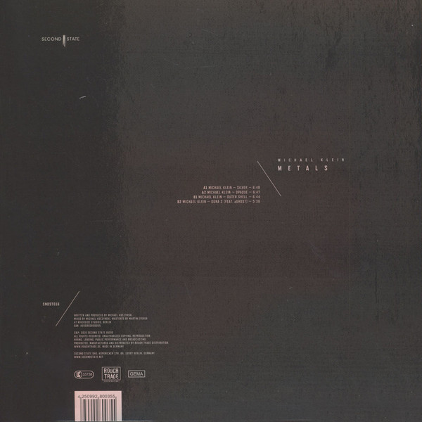 Michael Klein - Metals EP (Back)