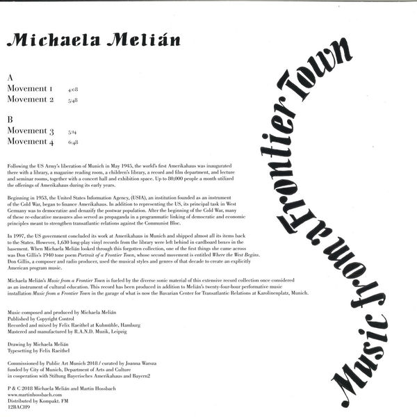 Michaela Melián - Music from a Frontier Town (Back)