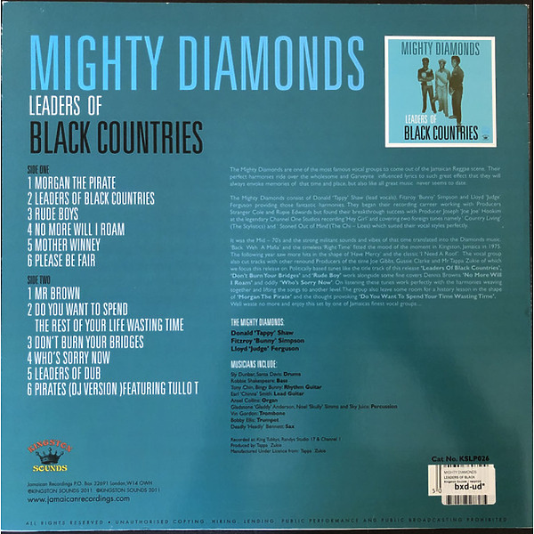 Mighty Diamonds - Leaders Of Black Countries' (Back)