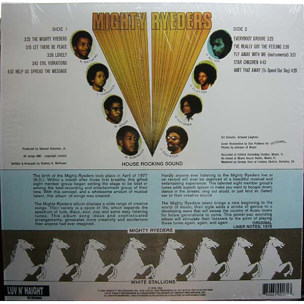 Mighty Ryeders - Help Us Spread The Message (180g Repress) (Back)