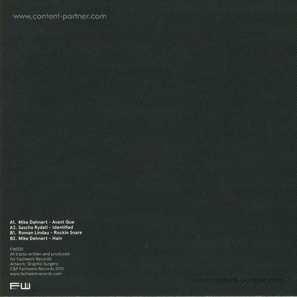 Mike Dehnert,Roman Lindau &Sascha Rydell - Before 8 Years Fachwerk EP (Back)