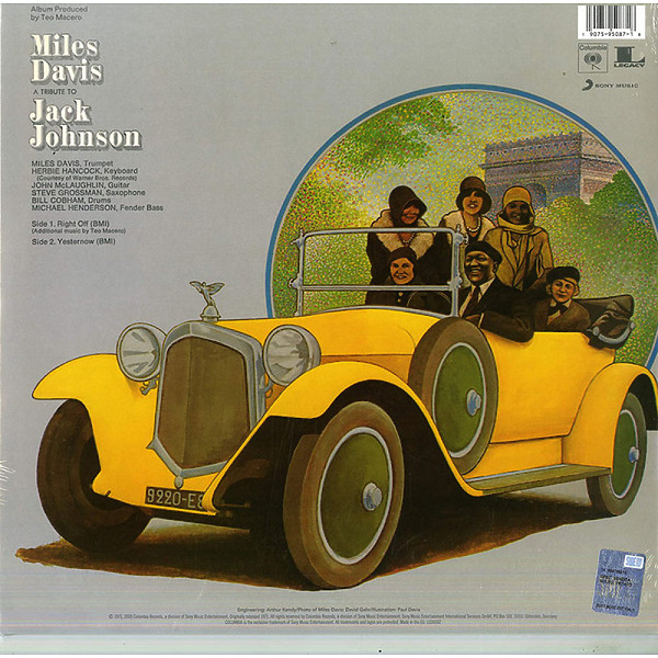 Miles Davis - A Tribute to Jack Johnson (LP Reissue) (Back)