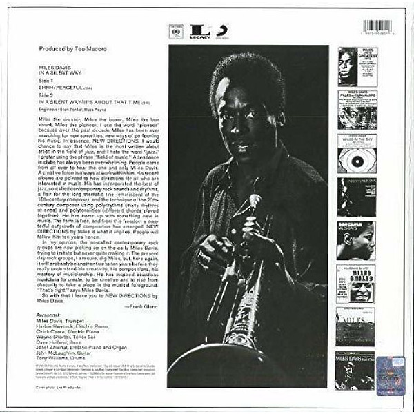 Miles Davis - In A Silent Way (50th Anniv. 180g Vinyl LP) (Back)