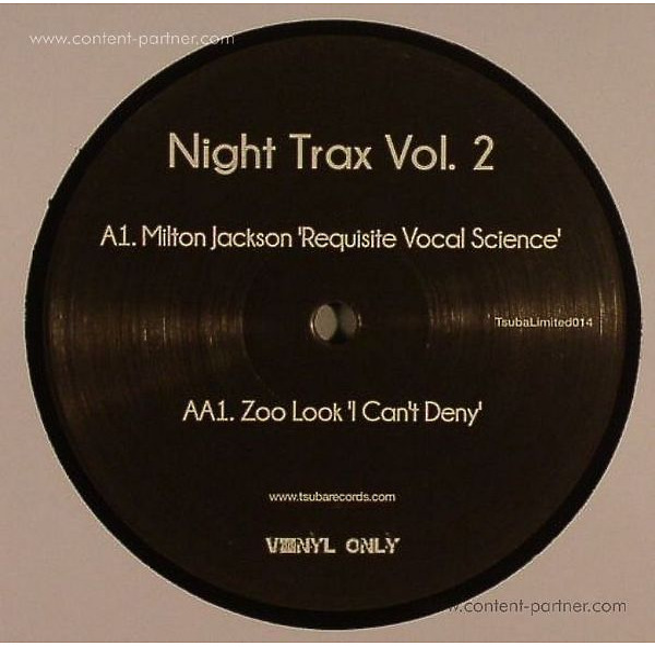 Milton Jackson / Zoo Look - Night Trax Vol. 2 (VINYL ONL) (Back)