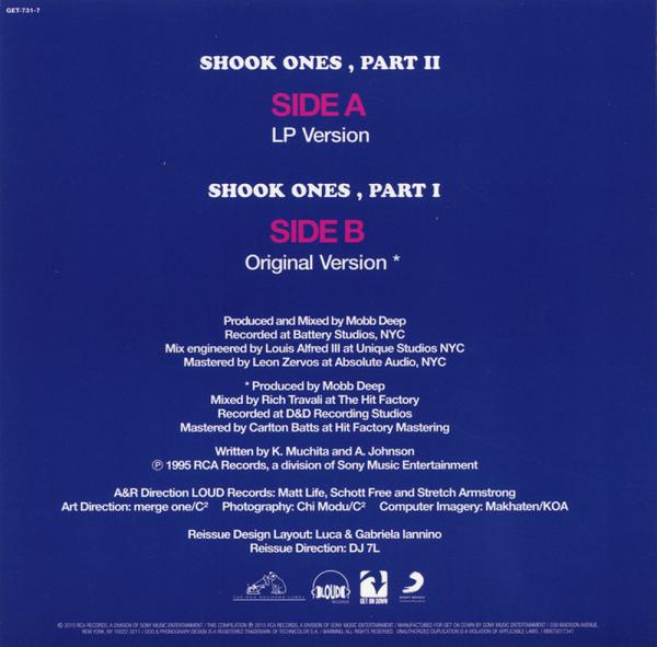 "Mobb Deep - Shook Ones Pt.1&2 (7"" Repress) (Back)"