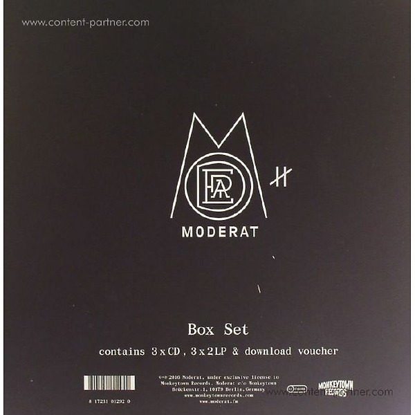Moderat - III (Deluxe Box/6xLP/3xCD+MP3) (Back)