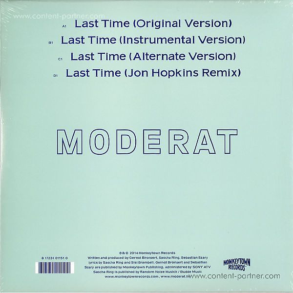 Moderat - Last Time (2x10''/Gatefold) (Back)