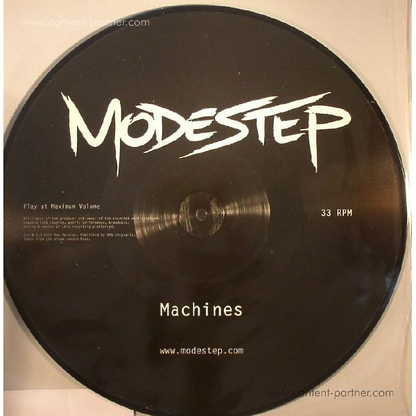 """Modestep - Machines (12"""" Picture Disc) RSD 2015 (Back)"""