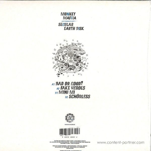 Monkey Maffia - Secular Earth Disk (Back)