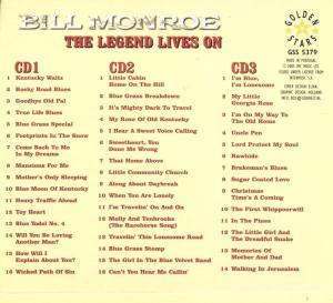 Monroe,Bill - Father Of Bluegrass-The Legend Li (Back)